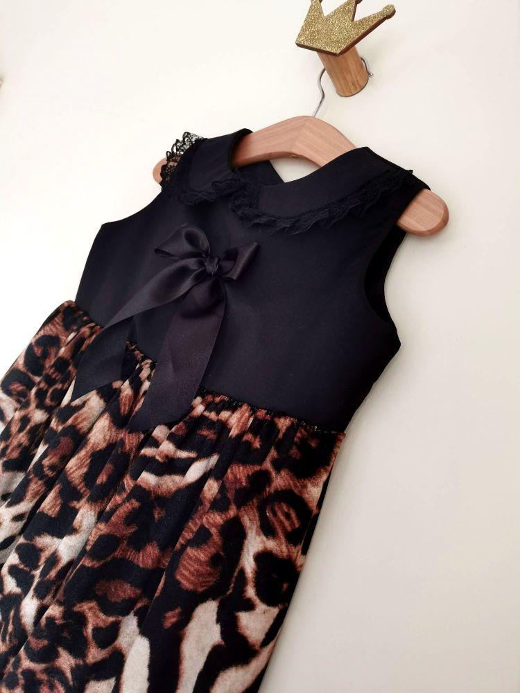 BETSY DRESS - ANIMAL VELOUR