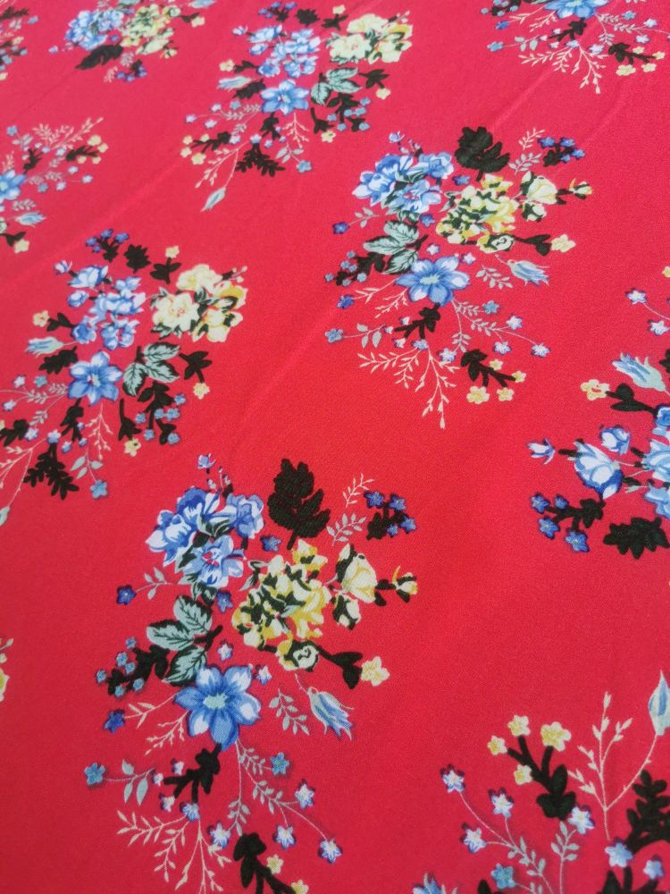 MAXI SKIRTS - GIRLS - RED DITSY FLORAL
