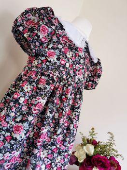 BETSY SHIRT DRESS - DITSY ROSE GARDEN
