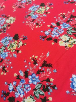 MAXI SKIRT (LADIES) - RED DITSY FLORAL