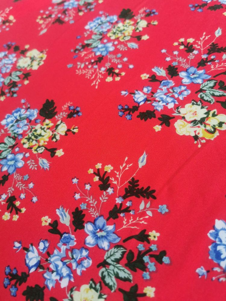 MAXI SKIRT - RED DITSY FLORAL