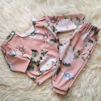 LOUNGE SET (0-2Y) - BLUSH IVORY SCUBA