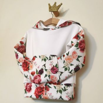 HOODIE - SPRING FLORAL SCUBA / JERSEY