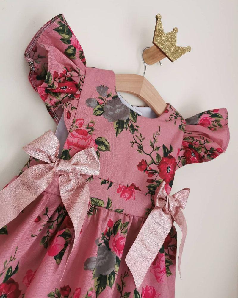 LOULA DRESS - VINTAGE ROSE CHAMBRE