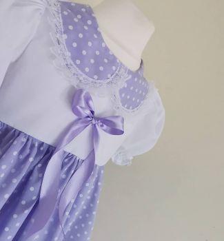 BETSY DRESS - PASTEL POLKA LILAC