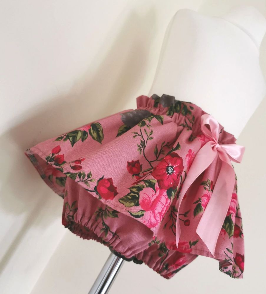 2/3Y PEPLUM BLOOMERS - VINTAGE ROSE CHAMBRE