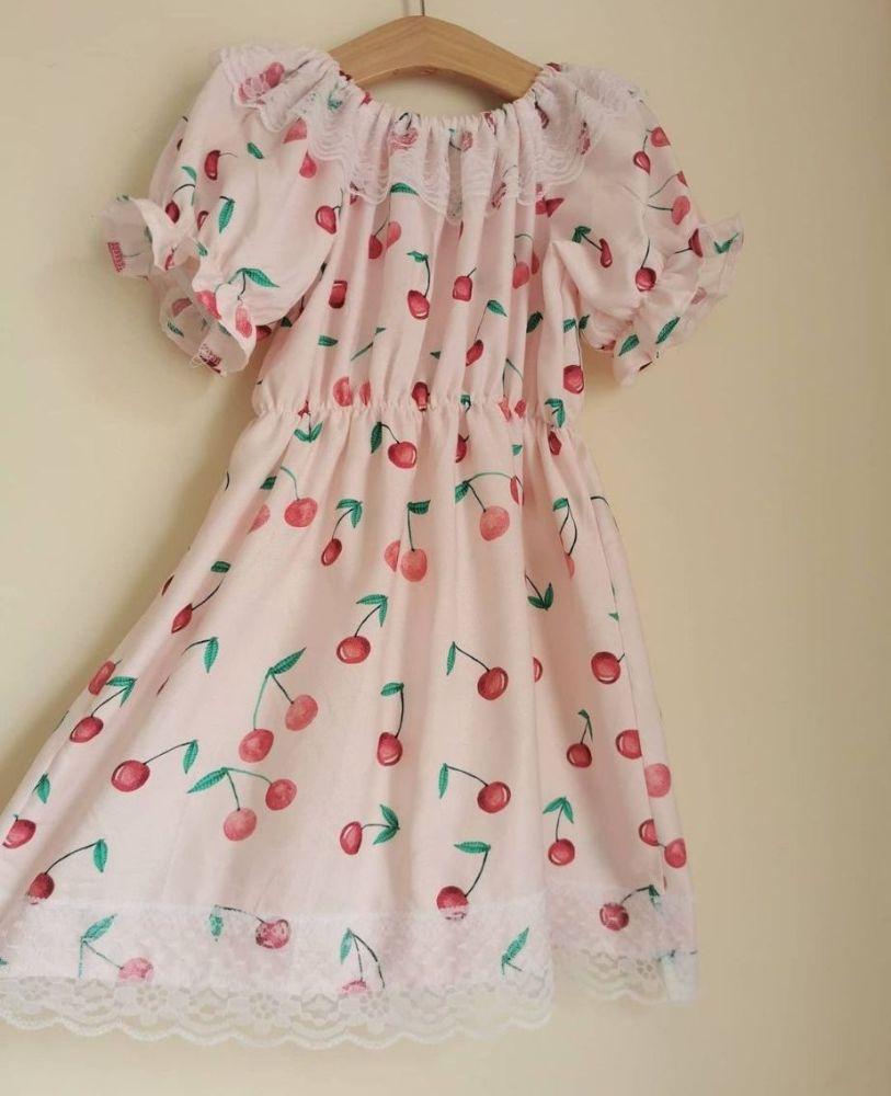 3/4Y - GYPSY DRESS - RETRO CHERRIES