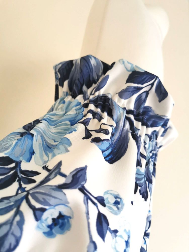 CHINA BLUE FLORAL HIGH WAIST BLOOMERS