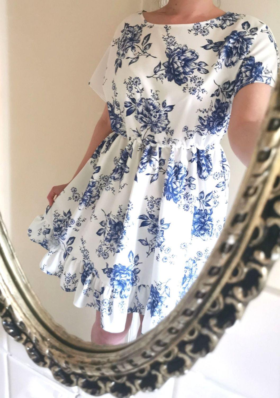 BABYDOLL DRESS - BLUE FLORAL