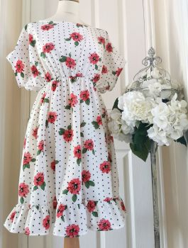 VALERIE DRESS - POLKA ROSE