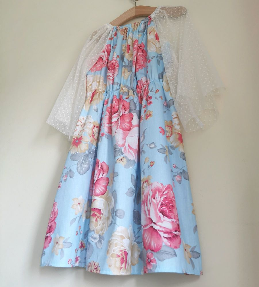5/6YEARS - CABBAGE ROSE GYPSY DRESS