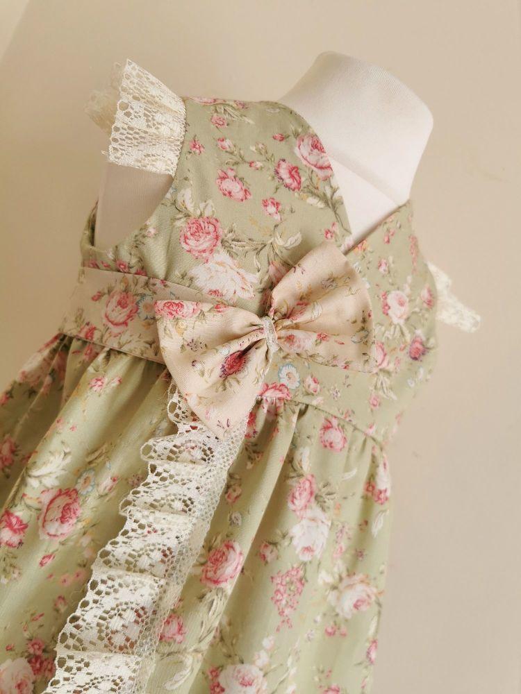 HARLOWE WRAP DRESS - ANTIQUE SAGE