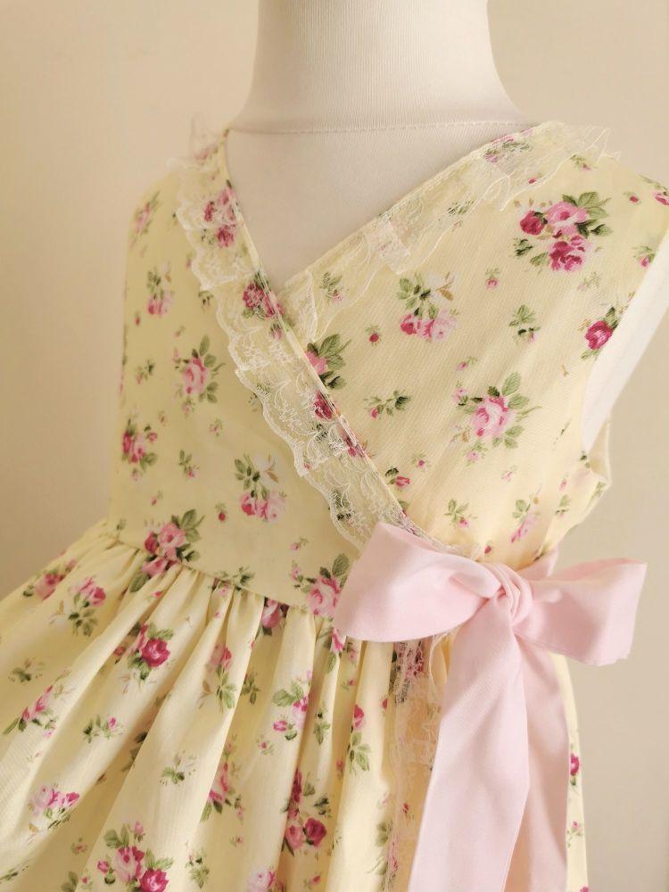 HARLOWE WRAP DRESS - LEMON BUDS