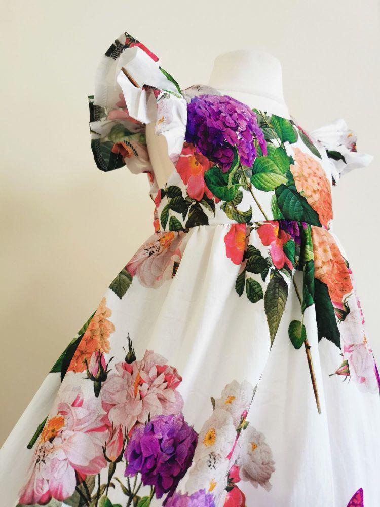 2/3YEARS - HYDRANGEA FLUTTER DRESS