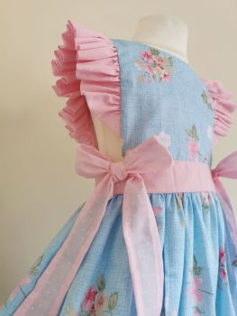 3/4 YEARS - BLUE/PINK FLORAL LOULA DRESS