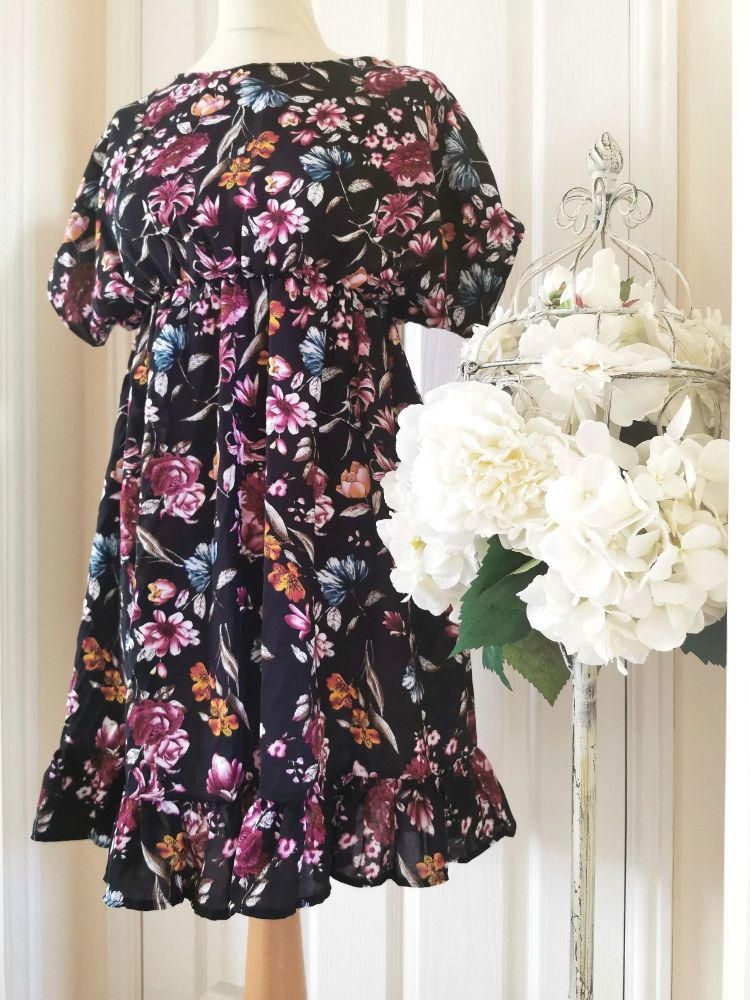 WOMENS (S) - TALLULAH DRESS - MIDNIGHT FLORAL