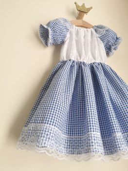 18/24MONTHS - GINGHAM / SWISS EMBROIDERY GYPSY DRESS