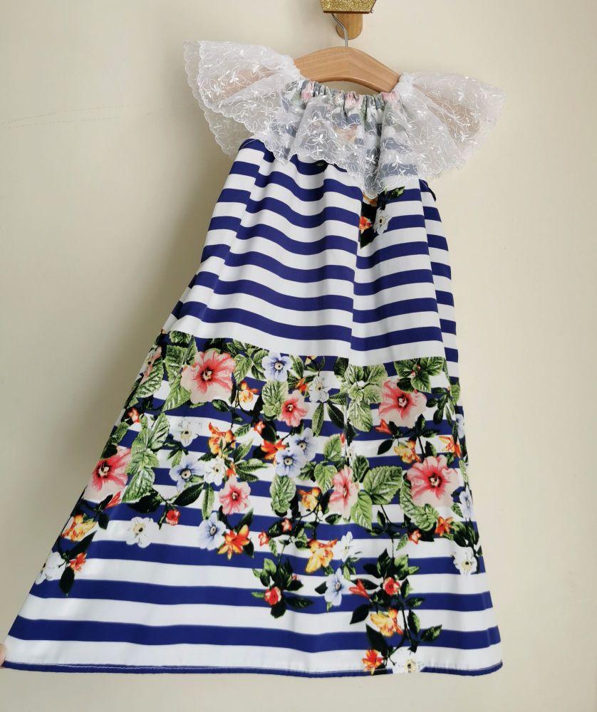 4/5YEARS - NAUTICAL BLOOM DELILAH DRESS