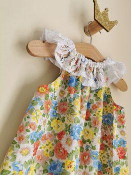 18/24M - SPRING FLORAL LACE DELILAH DRESS