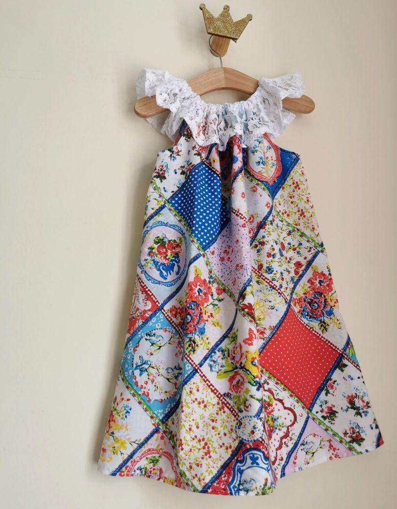 4/5 YEARS - VINTAGE PATCHWORK LACE DELILAH DRESS