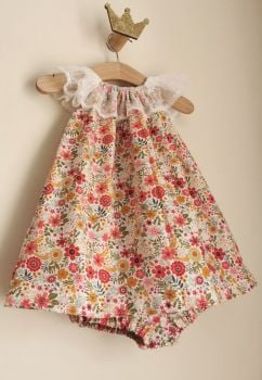 12/18M - CORAL MEADOW DELILAH DRESS & MATCHING BLOOMER PANTS