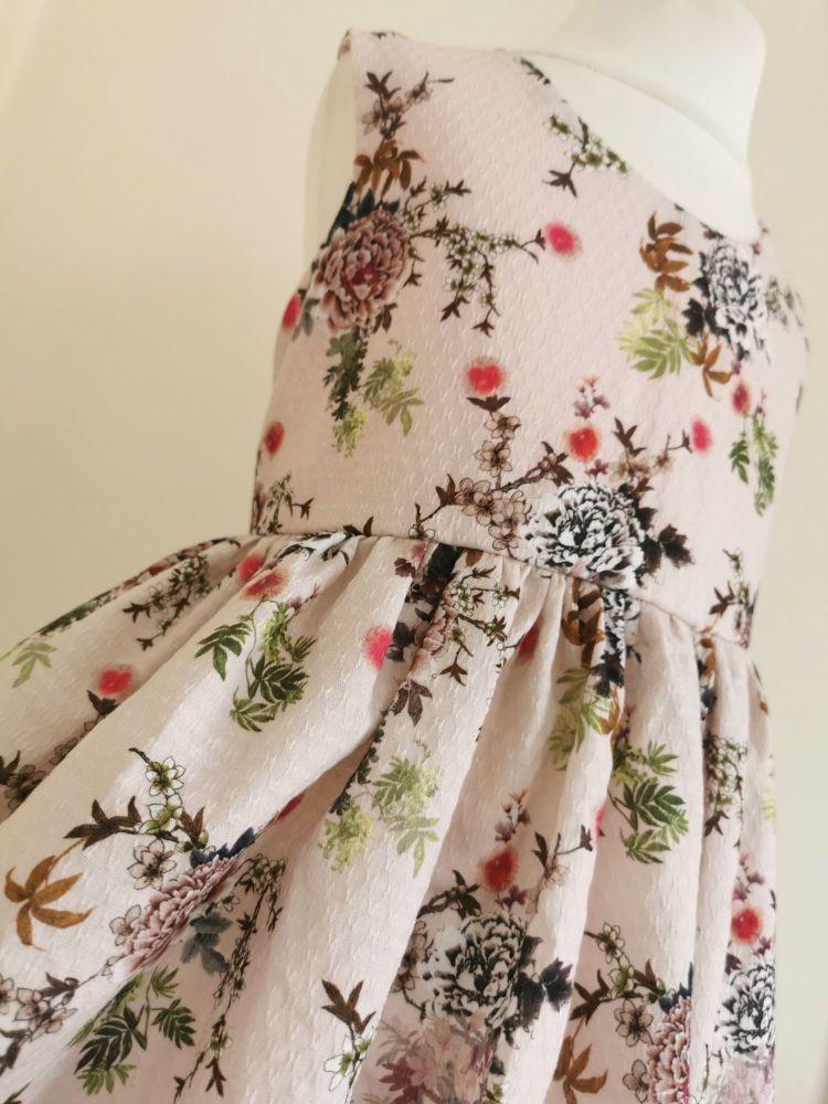 4YEARS - BLUSH PINK LACE UP BACK SUMMER DRESS