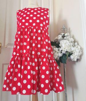 SOFIA SUN DRESS - POLKA RED