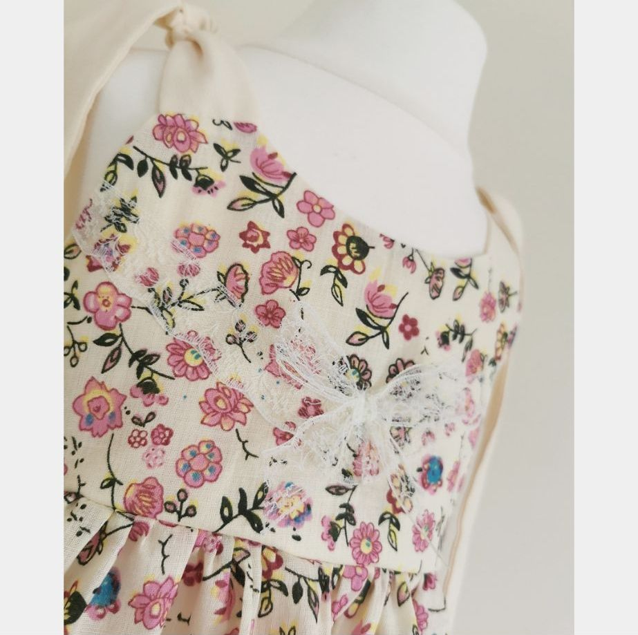 SUMMER SALE ☀️ ELSIE DRESS - CREAM/PINK FLORAL