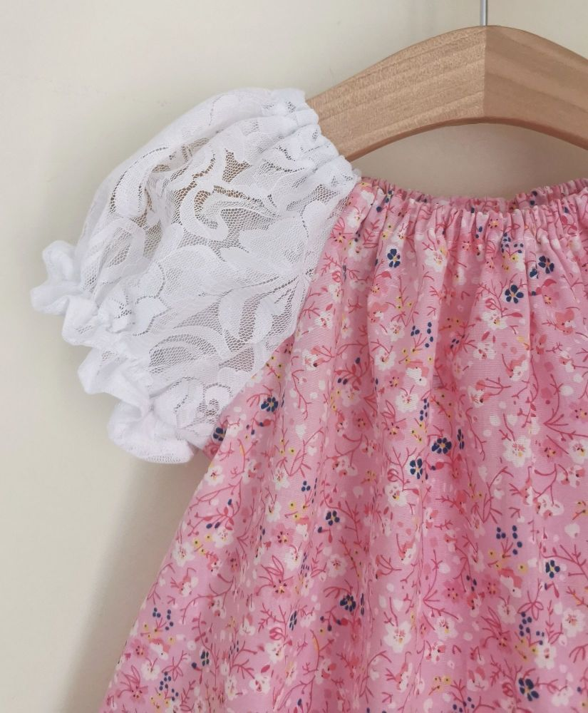 DAINTY BLOUSE - LACE / PINK BLOSSOM