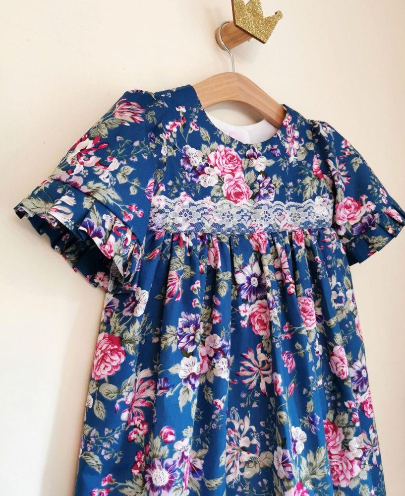 MARLOWE DRESS - TEAL FLORAL