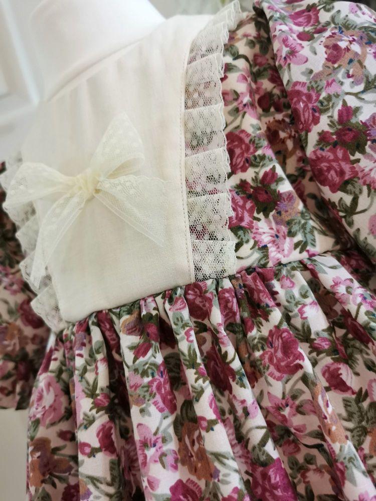 MARLOWE DRESS - WINE FLORAL
