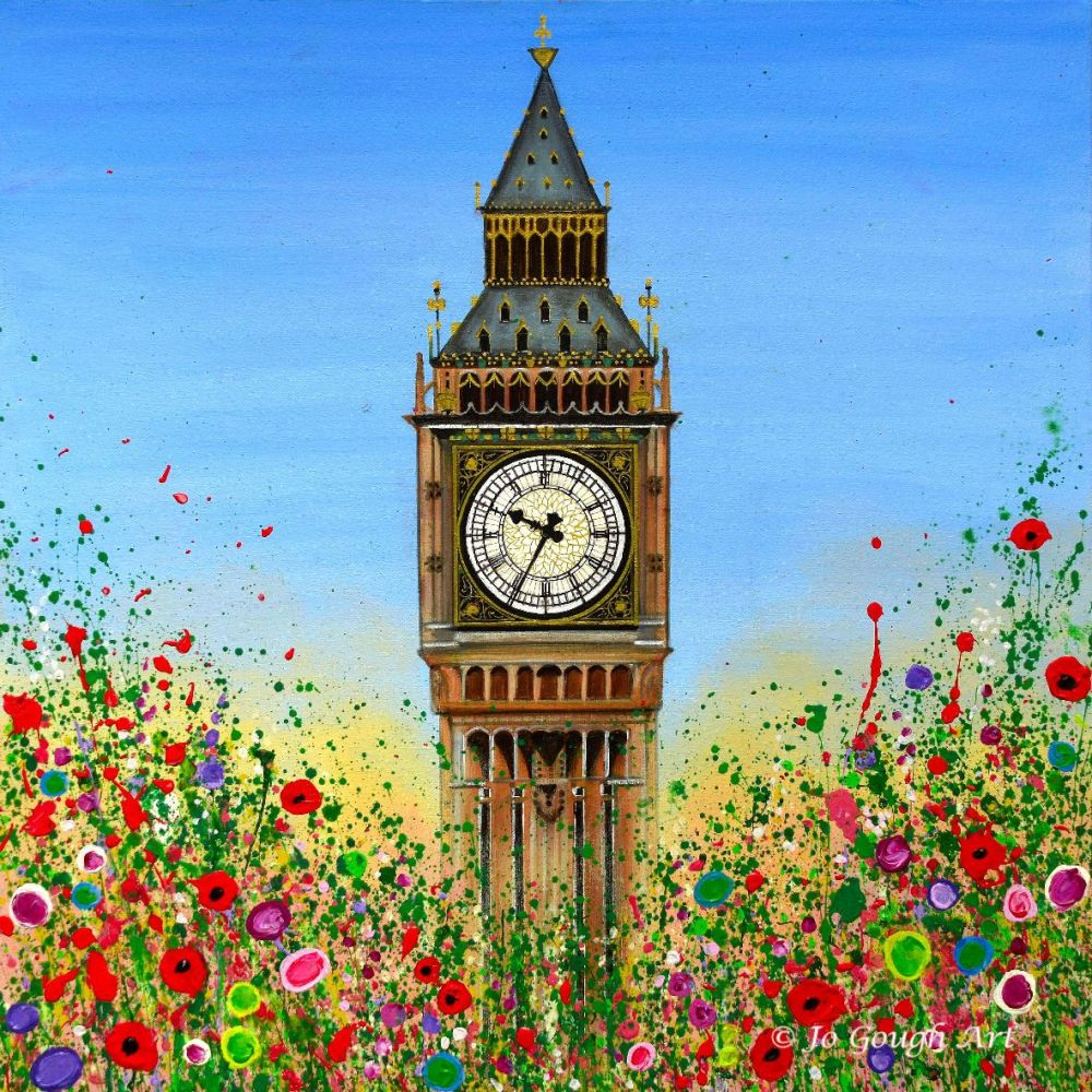 Big Ben - Hand Embellished Canvas Print (60x60cm)