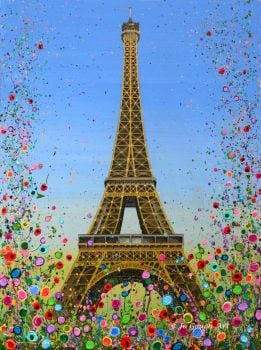ORIGINAL ART WORK - The Eiffel Tower, Paris  (80x60cm)