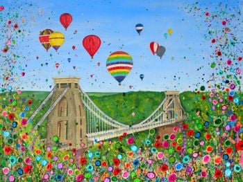 "ORIGINAL ART WORK (80x60cm) - ""Bristol Balloon Fiesta"""