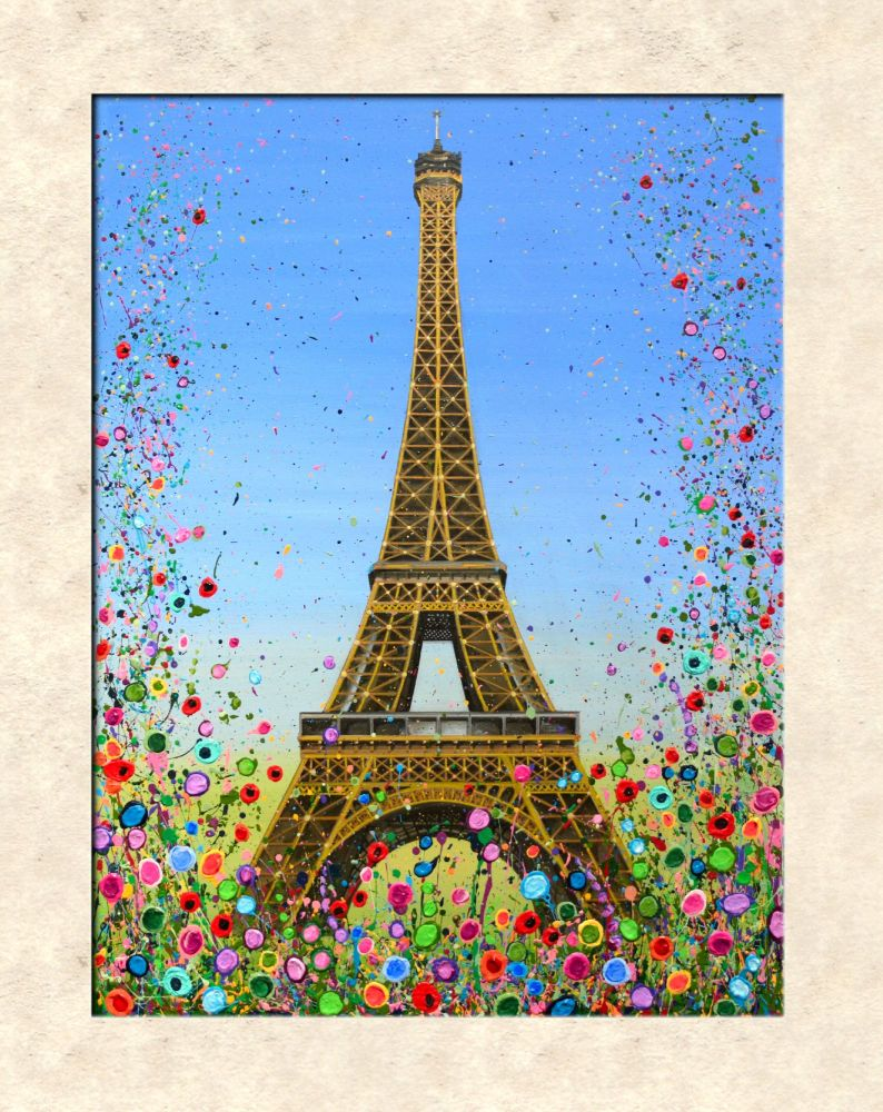 LIMITED EDITION MOUNTED PRINT (40x30cm) - Eiffel Tower, Paris - 45 Editions