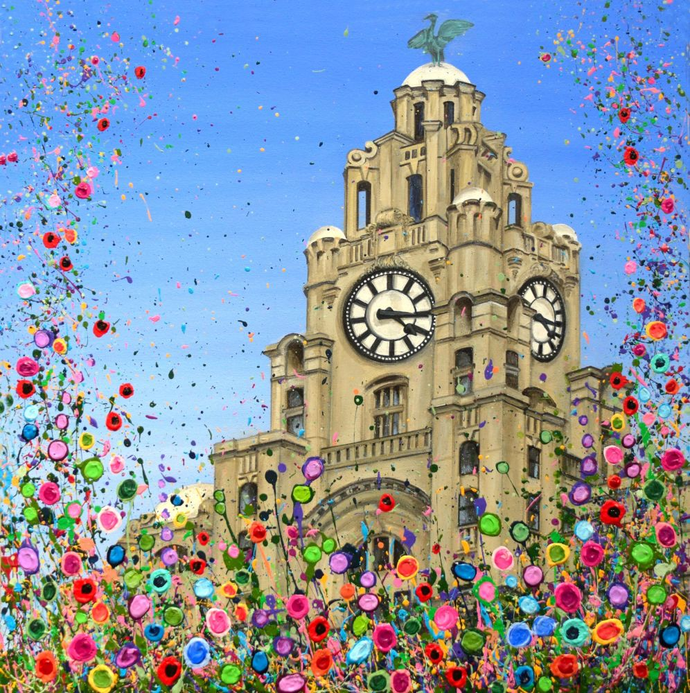 ORIGINAL ART WORK - Liver Building, Liverpool (60x60cm)