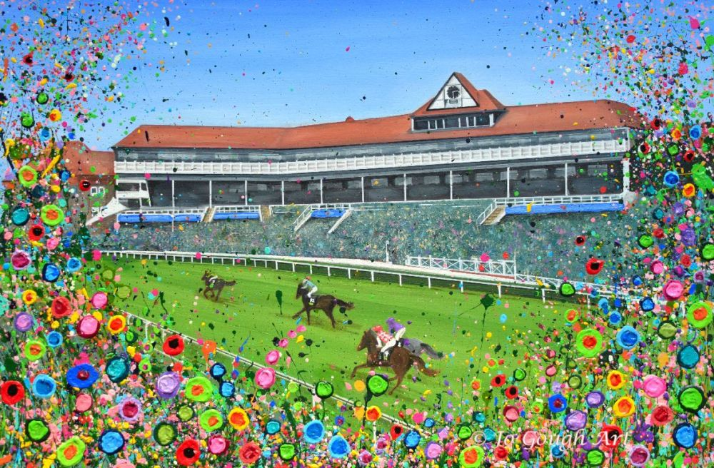 ORIGINAL ART WORK (75x50cm) - Chester Racecourse
