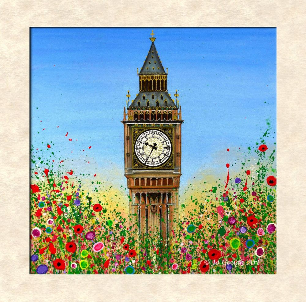 LIMITED EDITION MOUNTED PRINT - Big Ben, London (40X40cm) - 45 Editions