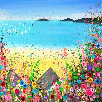 ORIGINAL ART WORK - Abersoch Beach (50x50cm)