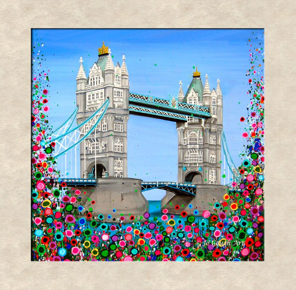FINE ART GICLEE PRINT - Tower Bridge, London (40x40cm) - 45 Editions