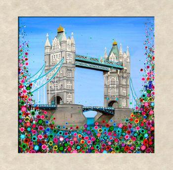 FINE ART GICLEE PRINT - Tower Bridge, London (40x40cm) - 45 Editions