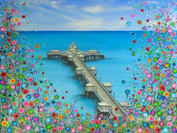 ORIGINAL ART WORK (80x60cm) - Llandudno Pier
