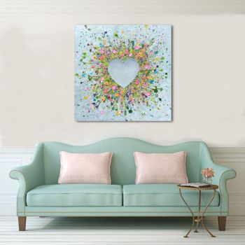 "CANVAS PRINT - ""You Make Me Happy"" From £65"
