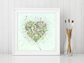 "FINE ART GICLEE PRINT - ""My Heart Blooms For You"" From £10"