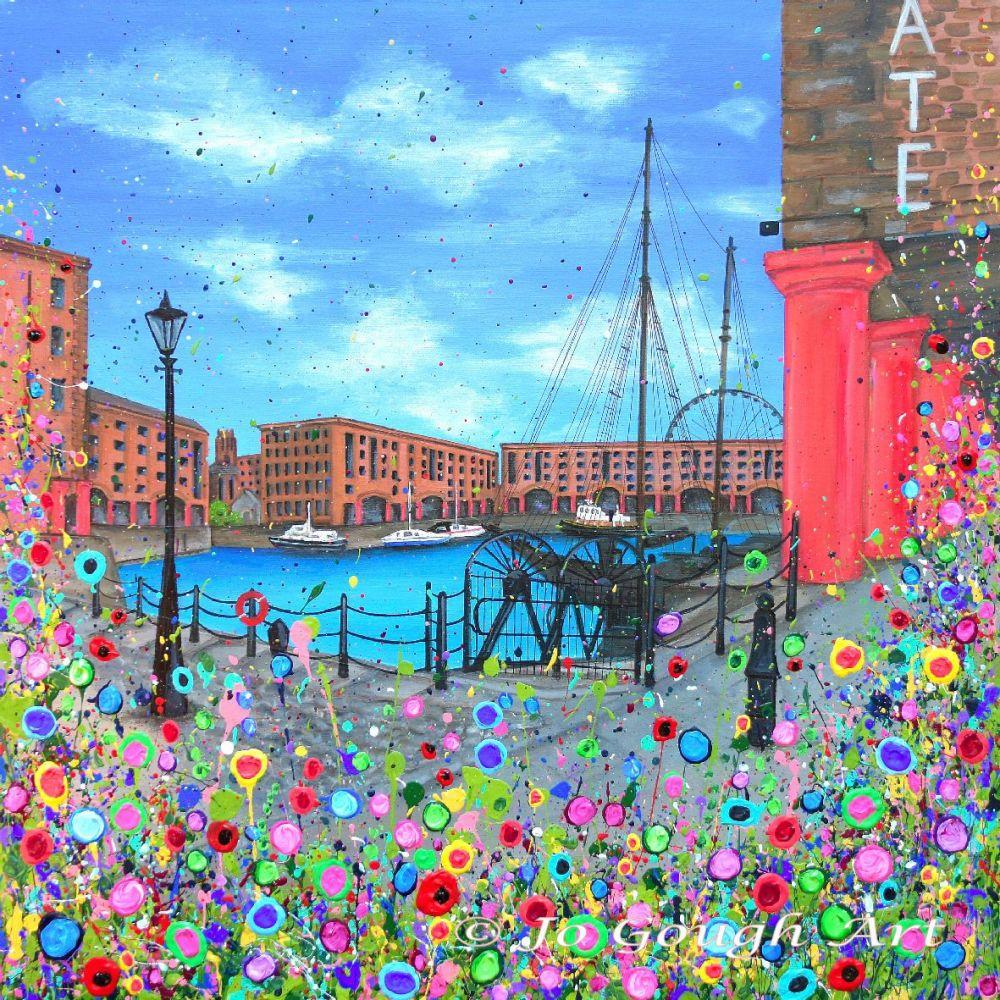 SOLD - ORIGINAL ART WORK - The Royal Albert Dock (60x60cm)