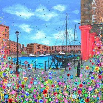 SOLD - ORIGINAL ART WORK - The Royal Albert Dock (60x60cm)