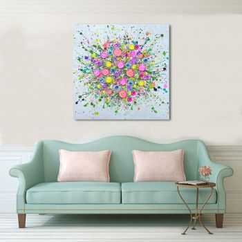 "CANVAS PRINT - ""Love At First Sight"" (NO VASE) From £65"