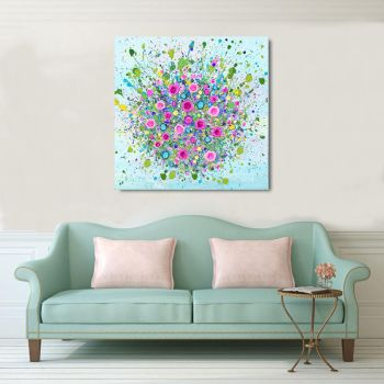 "CANVAS PRINT - ""Thinking Of You"" (NO VASE) From £65"