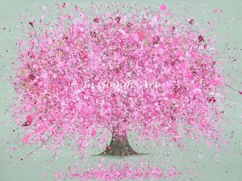 """FINE ART GICLEE PRINT - """"Blossoming Love"""" From £15 (Choice of 3 background colours)"""