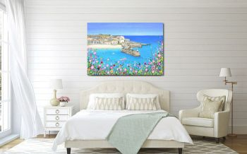"CANVAS PRINT  - ""St Ives Harbour"" From £55"